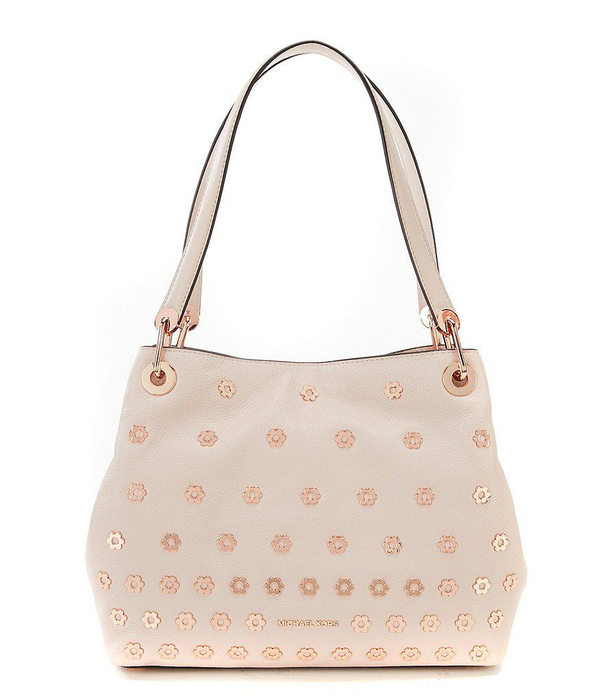 d894e2caeac7 MICHAEL Michael Kors Raven Flower-stud Large Tote in Pink - Lyst