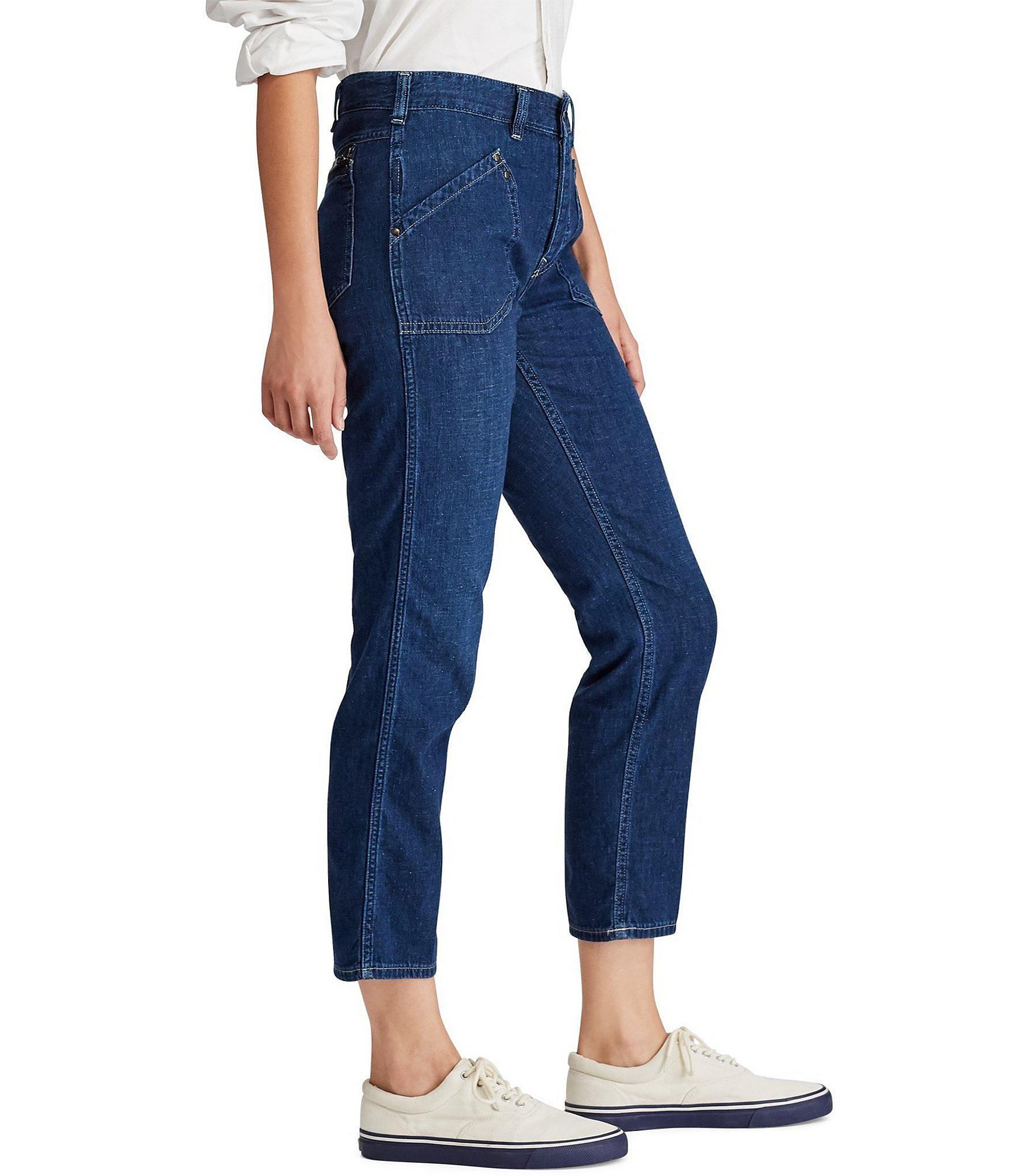 cc91ace3b Polo Ralph Lauren - Blue Workwear Denim Skinny Jeans - Lyst. View fullscreen