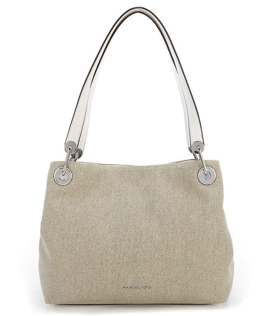 475b9378cb7c Lyst - MICHAEL Michael Kors Raven Large Canvas Tote in Natural