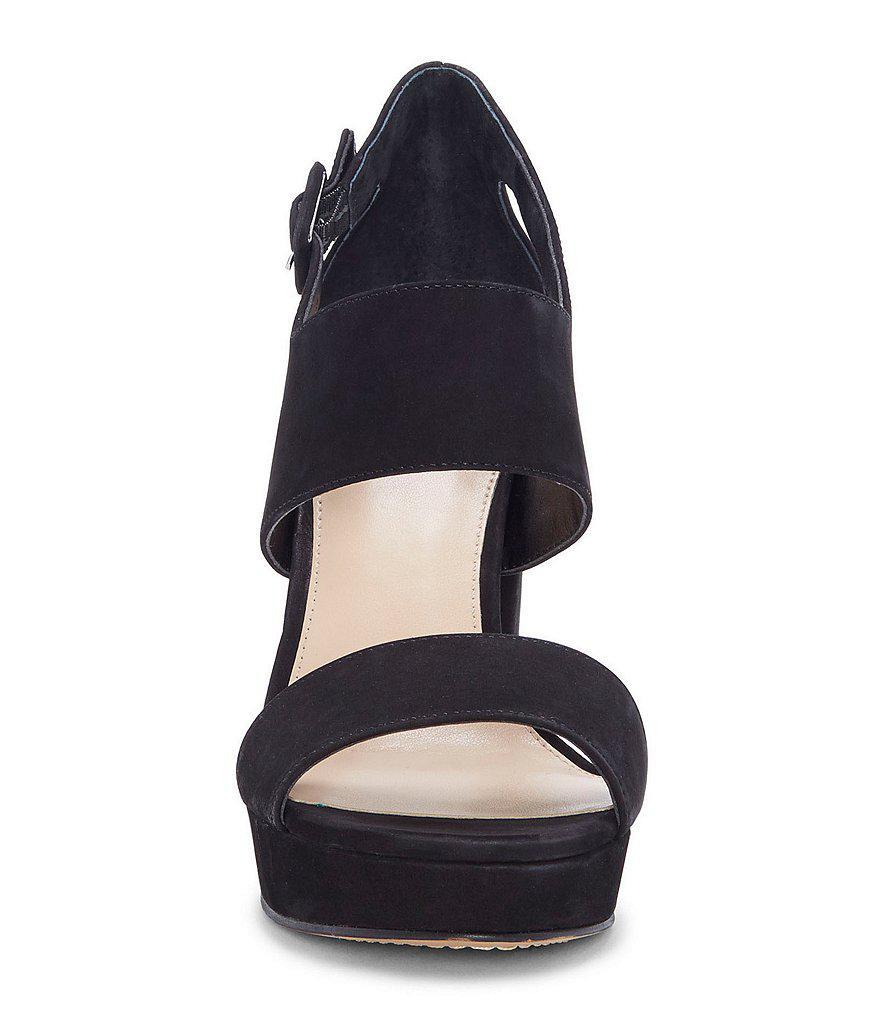 Vince Camuto Jayvid Nubuck Platform Block Heel Sandals qOv8DDduY