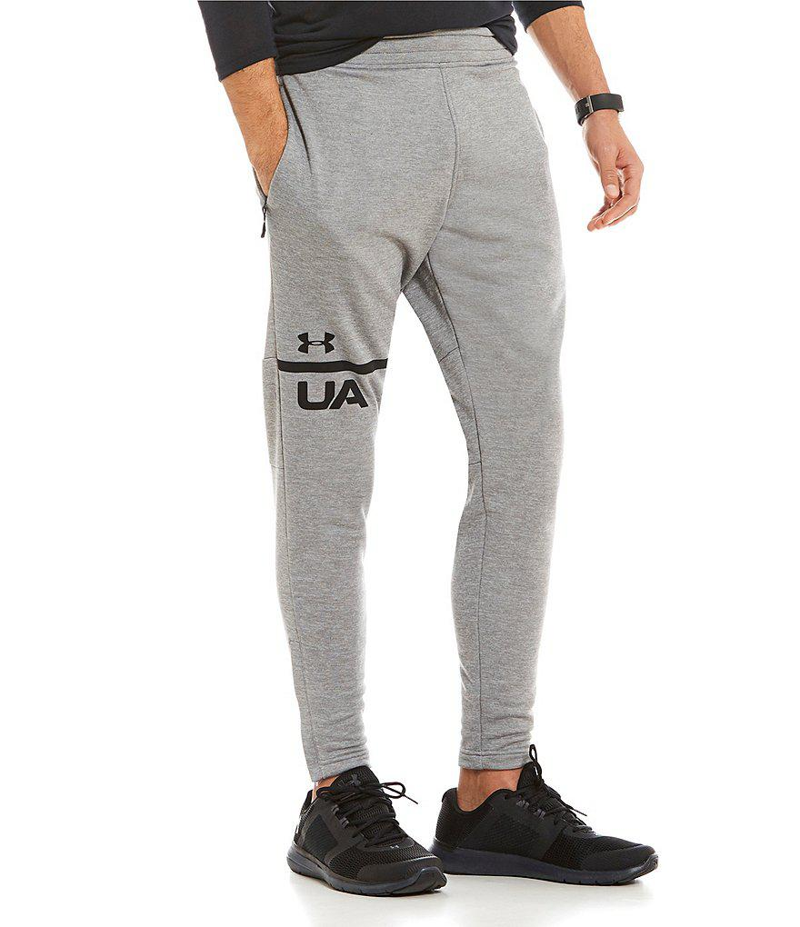 Under Armour. Men's Black Tech Terry Tapered Jogger Pants