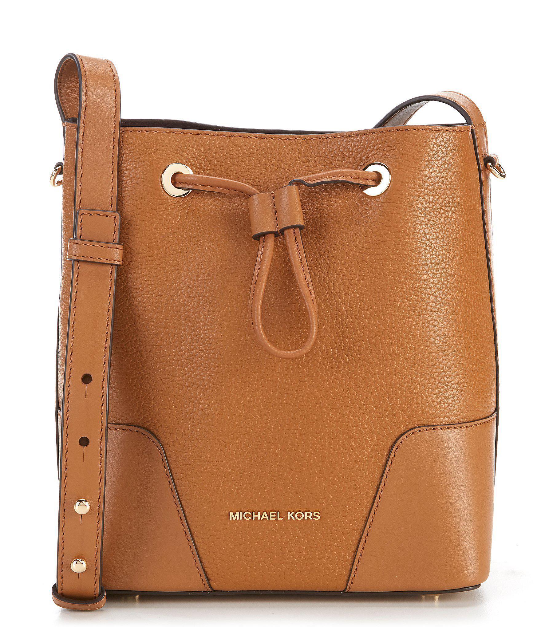 26b7afd45578 Lyst - MICHAEL Michael Kors Cary Small Drawstring Bucket Bag