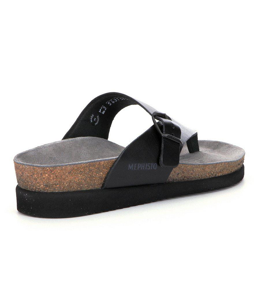 Mephisto Helen Buckle Detail Leather Casual Sandals JI1M2m306