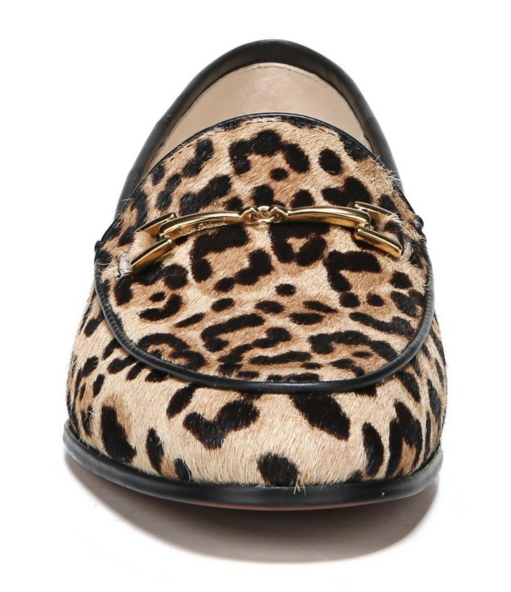 d9838bc4da617 ... Loraine Leopard Print Calf Hair Bit Embellishment Block Heel Loafers -  Lyst. View fullscreen