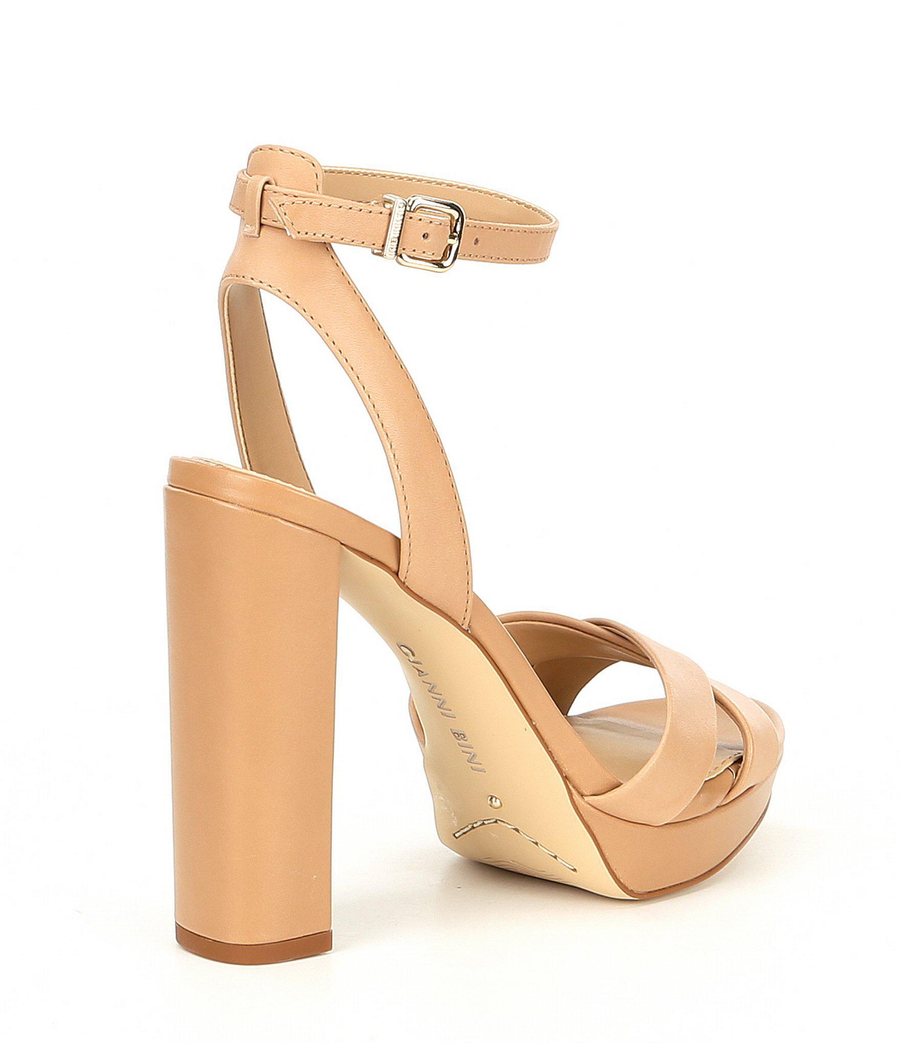 f3519826f0e Gianni Bini - Multicolor Veeniz Leather Block Heel Dress Sandals - Lyst.  View fullscreen