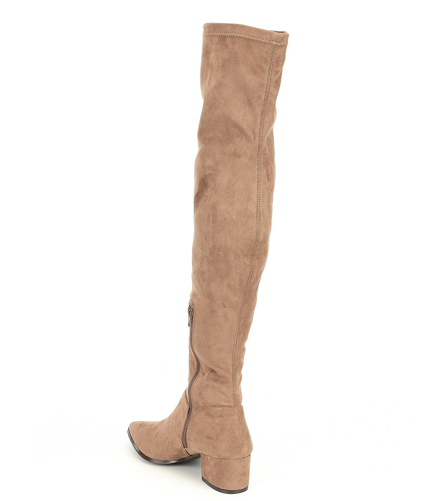 badc4e8b6c8 Lyst - Steve Madden Carli Over The Knee Block Heel Boots in Brown