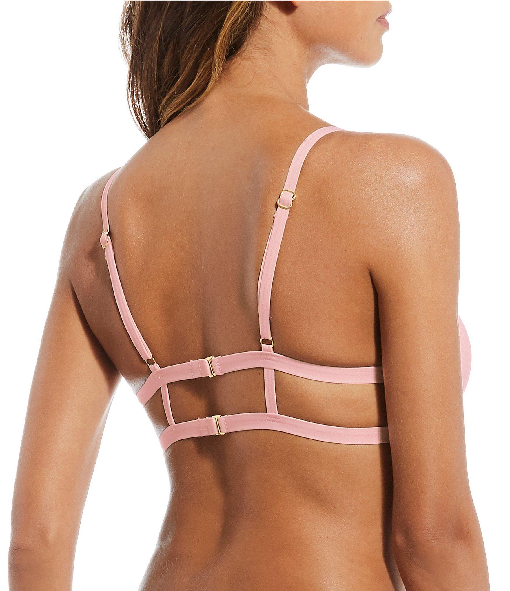 53924acfd3 Gianni Bini - Multicolor Solid Angel Strap Back Bralette Swimsuit Top -  Lyst. View fullscreen
