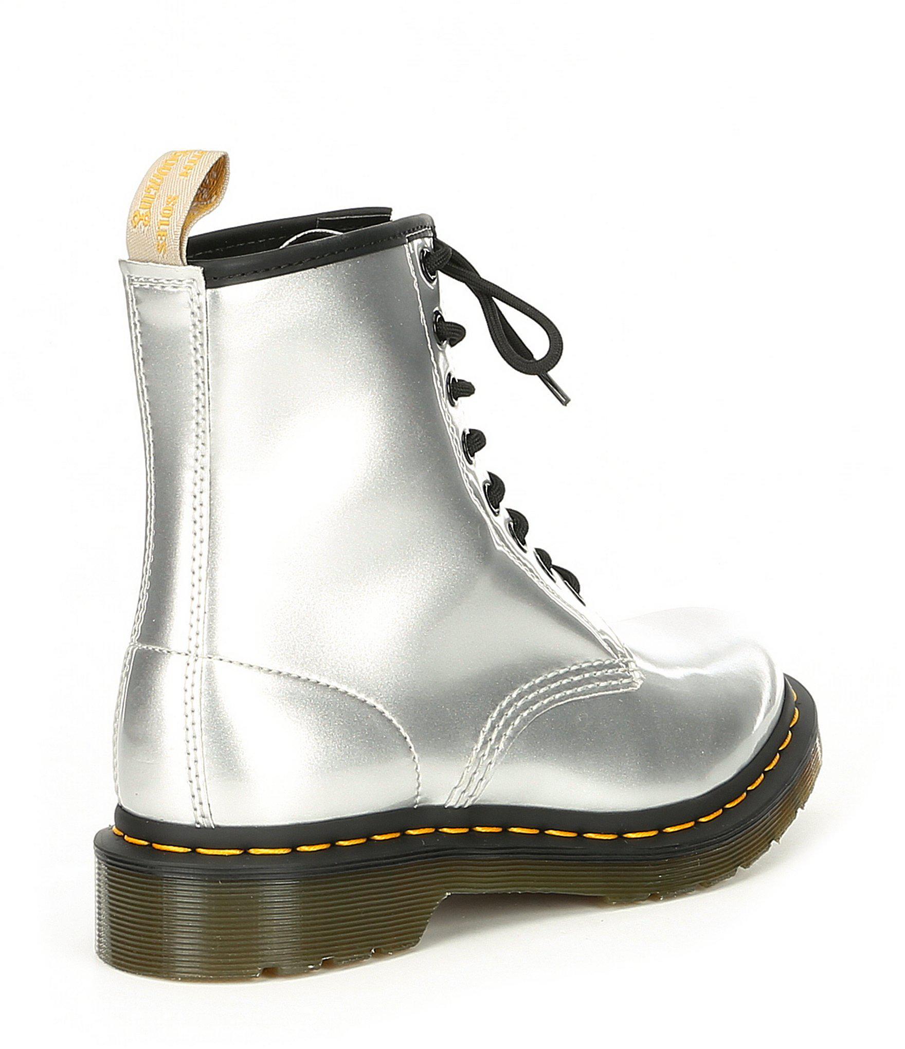 b1c6a5955dfcd Dr. Martens - Metallic 1460 Vegan Mid Boots - Lyst. View fullscreen
