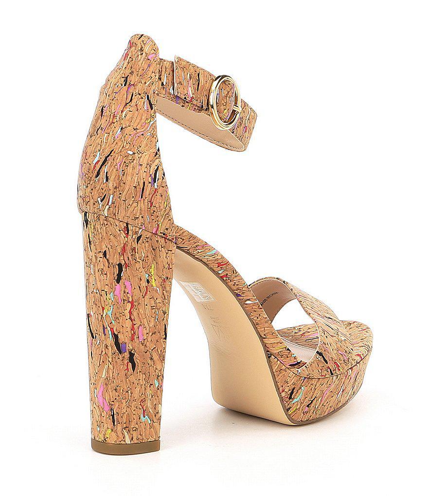 Pelle Moda Palo2 Multi Cork Ankle Strap Dress Sandals U08hpd0