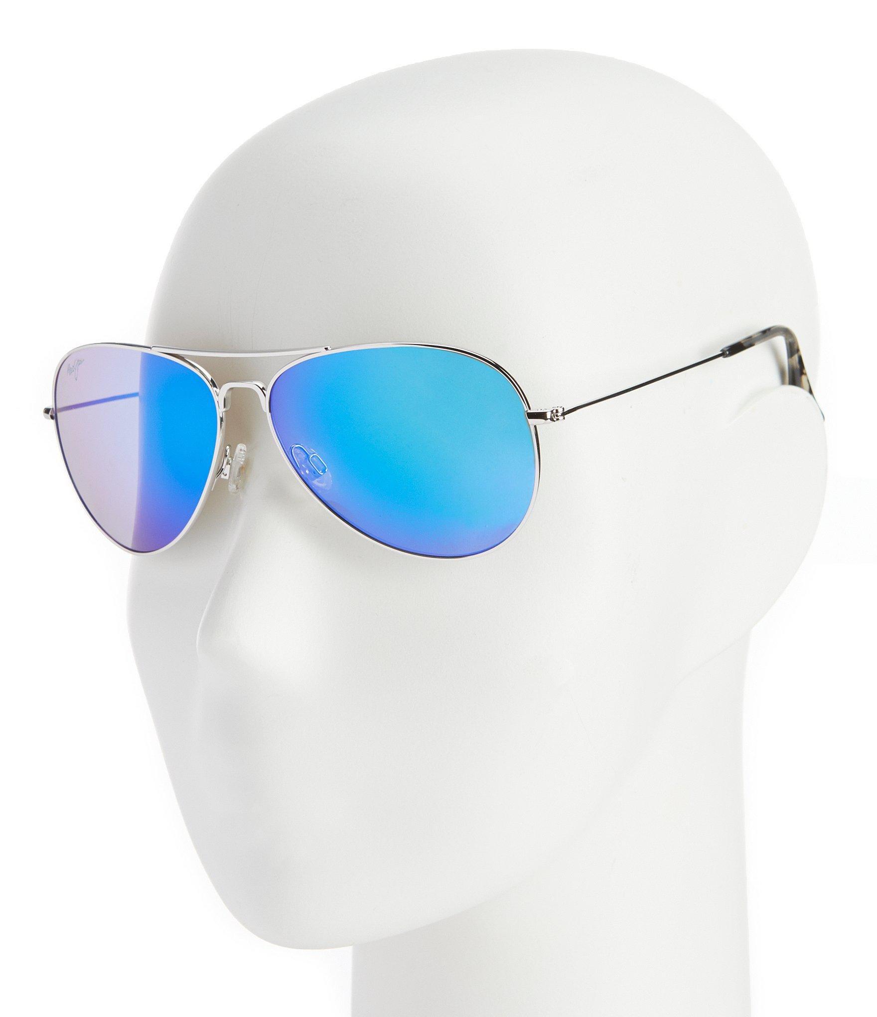 a1cc93f473b7d Lyst - Maui Jim Mavericks Polarized Mirrored Aviator Sunglasses in ...