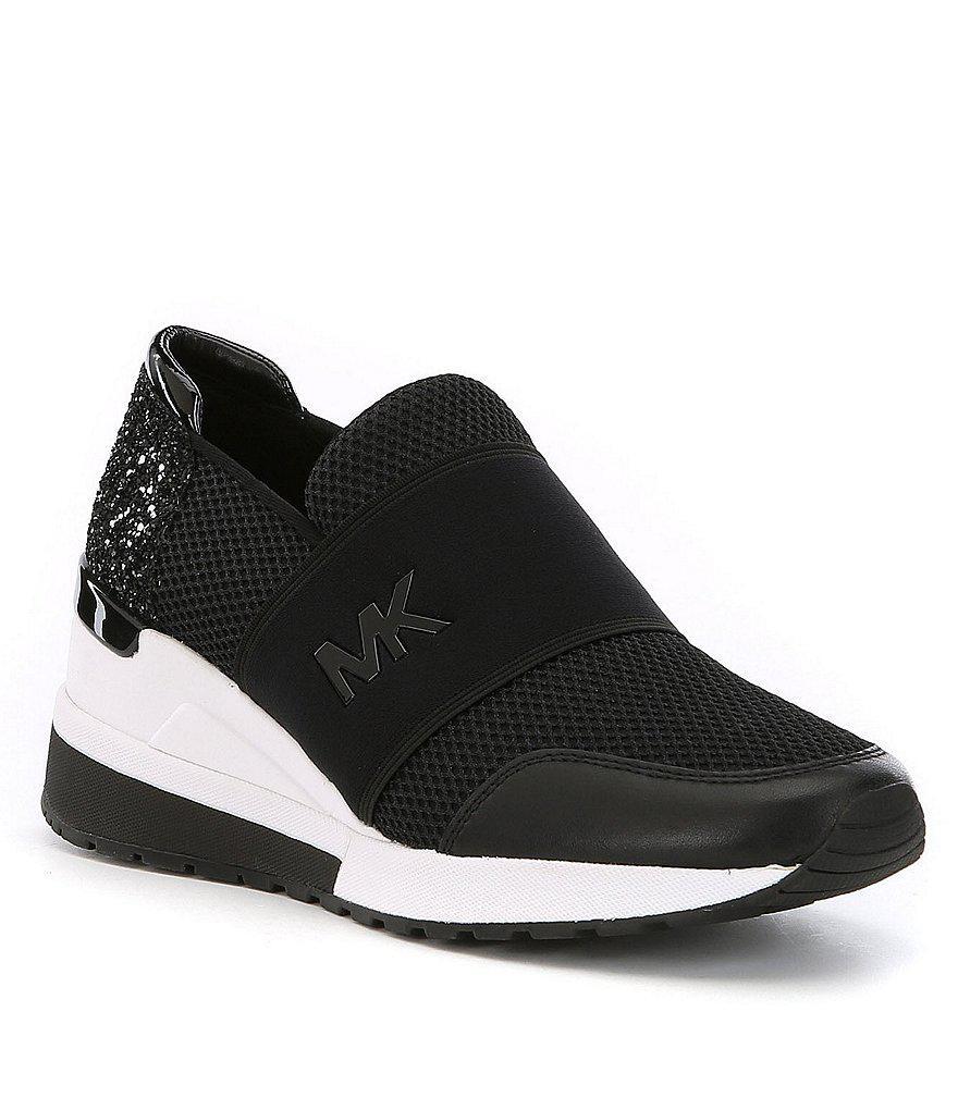 MICHAEL Michael Kors. Women's Black Felix Trainer Sneakers