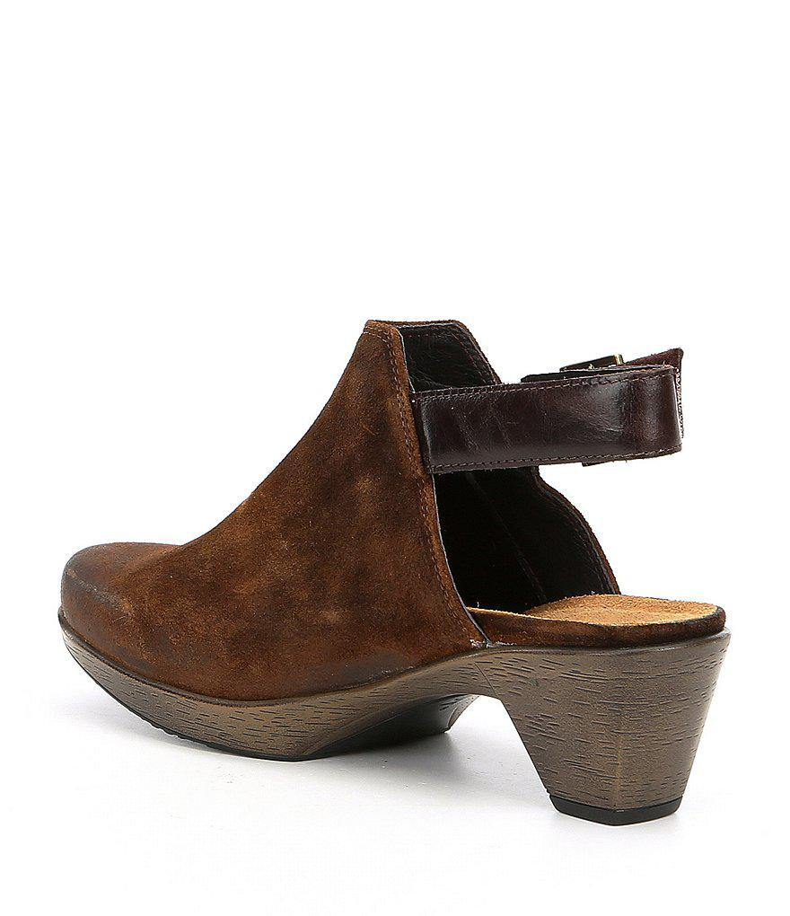 Naot Upgrade Suede and Leather Clogs xjkZD