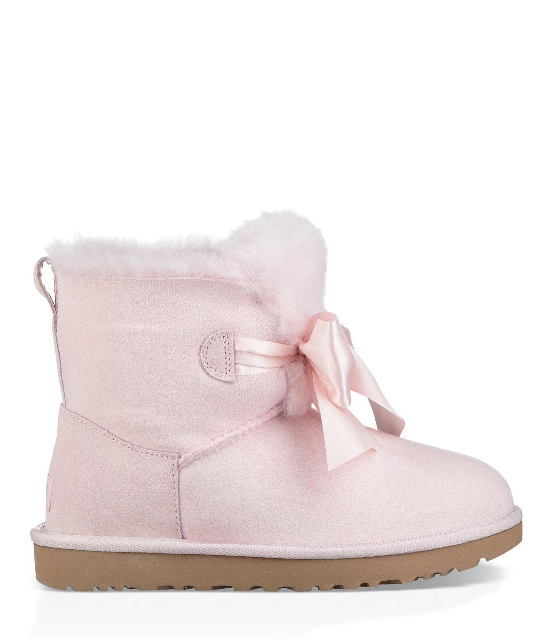 835e24cc41d35 Lyst - Ugg Gita Bow Mini Booties in Pink