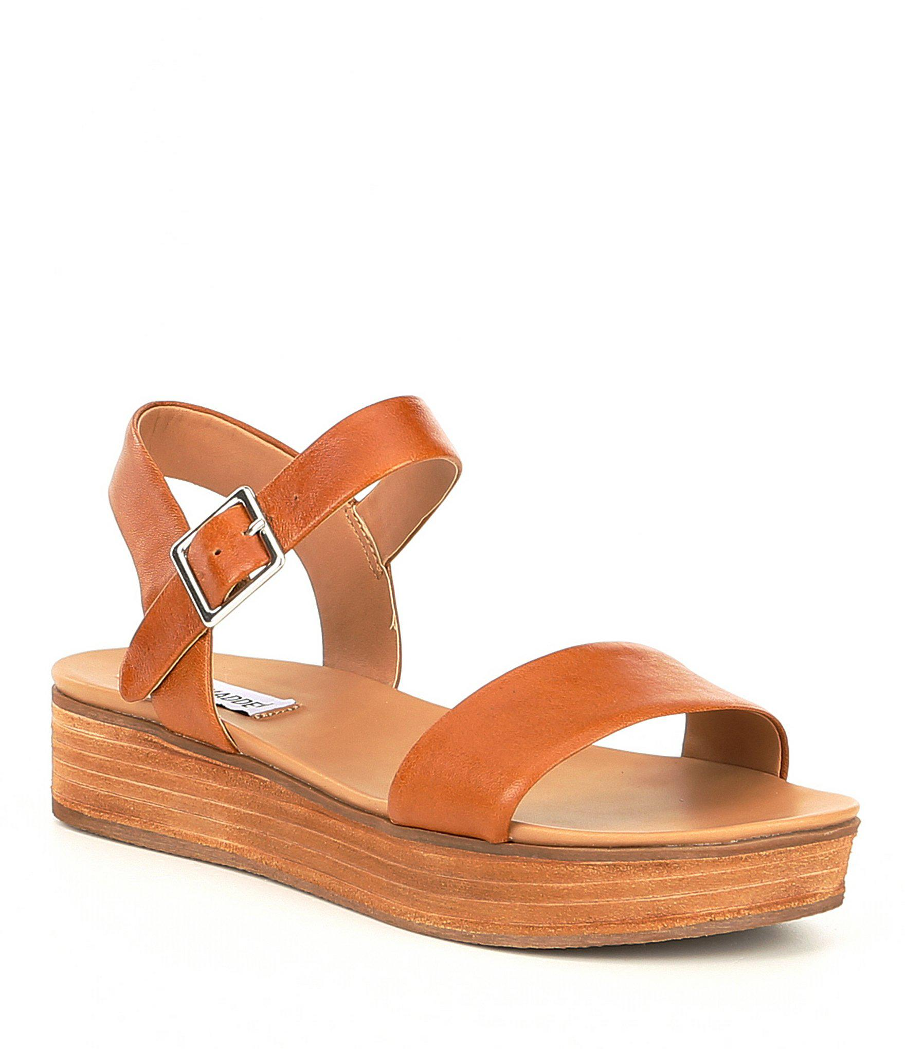 88eeb7683dd Lyst - Steve Madden Aida Platform Sandals in Brown