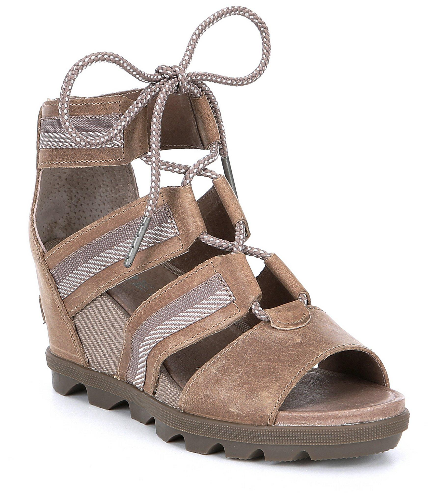 f9963aed4 Lyst - Sorel Joanie Ii Leather Lace Sandals in Brown