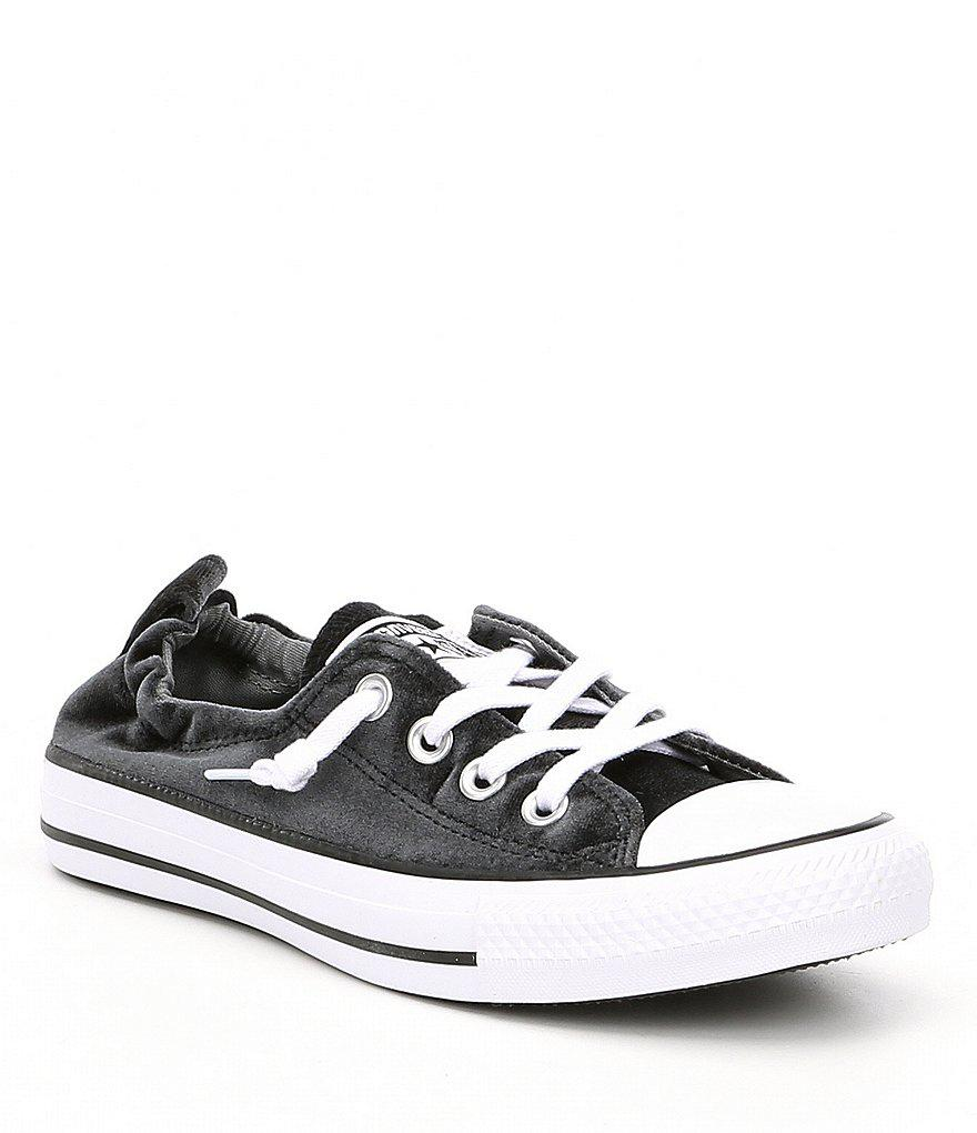 5404747d1ee241 Lyst - Converse Women s Shoreline Velvet Slip-on Sneakers in Black