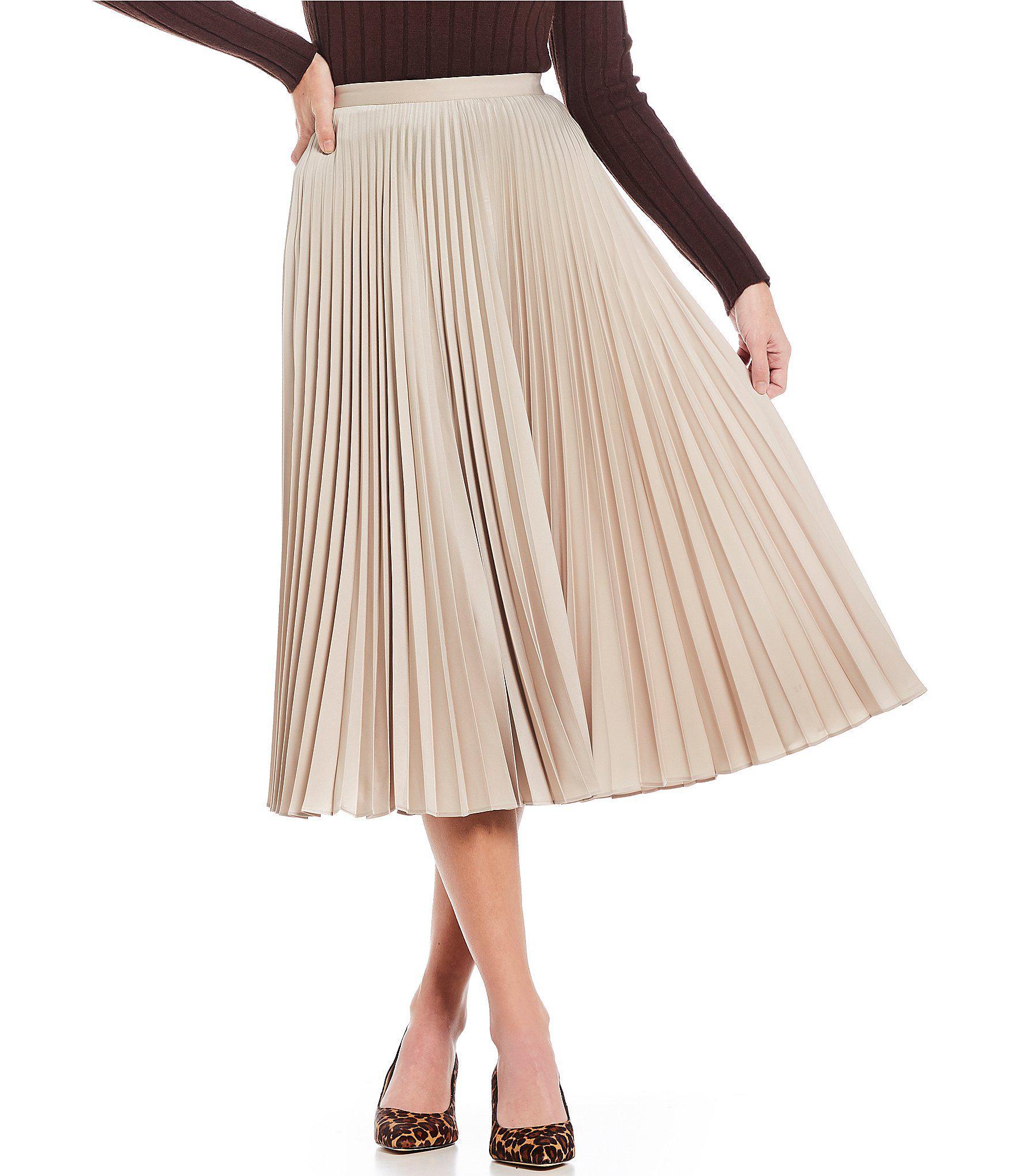 f9125cbac2 Gianni Bini Clara Accordion Pleated Midi Skirt in White - Lyst
