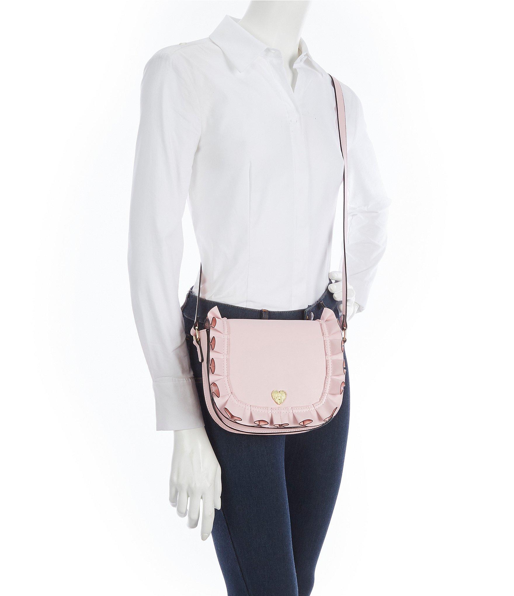 a706e15be35e Betsey Johnson - Pink Ruffle Me Up Saddle Cross-body Bag - Lyst. View  fullscreen