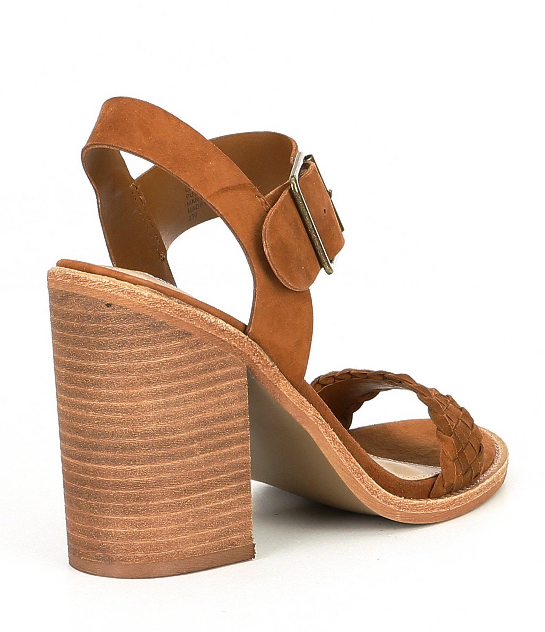 b769630b1c1 Steve Madden - Brown Cadence Suede Block-heel Sandals - Lyst. View  fullscreen
