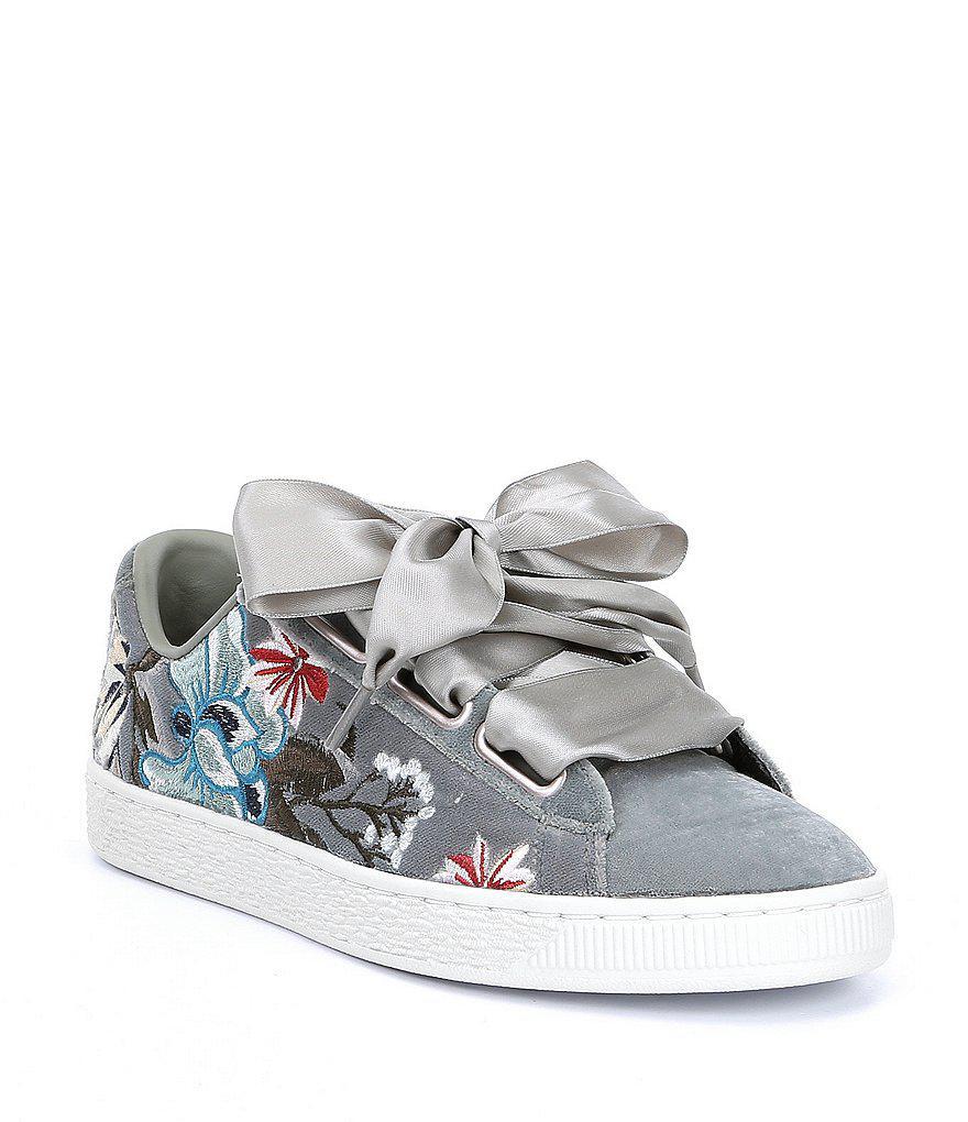 Chaussures Brodées Florales Puma Hyper - Gris hbkGFQ
