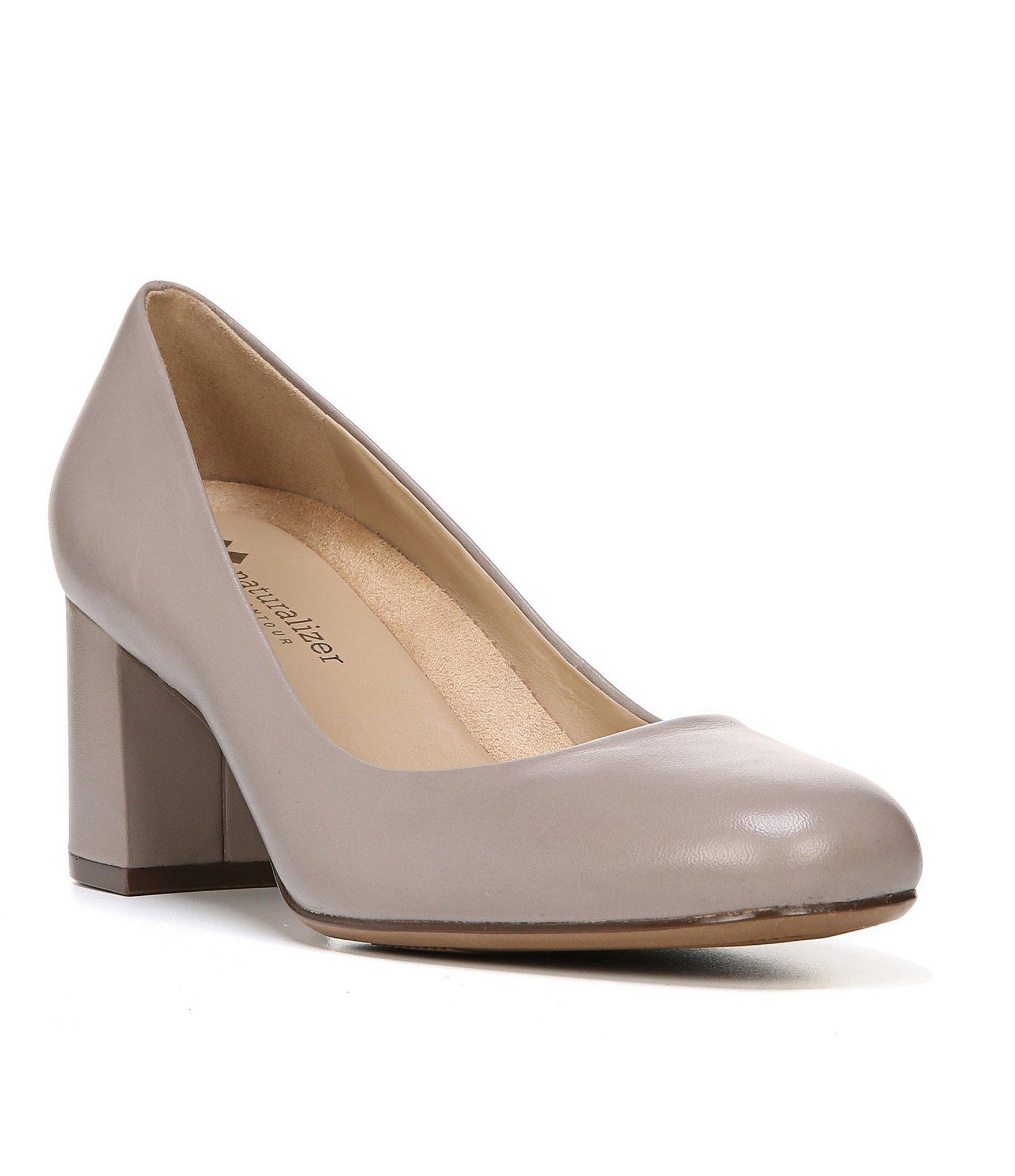 63dd7caa0a Naturalizer. Women's Whitney Leather Slip-on Block Heel Pumps