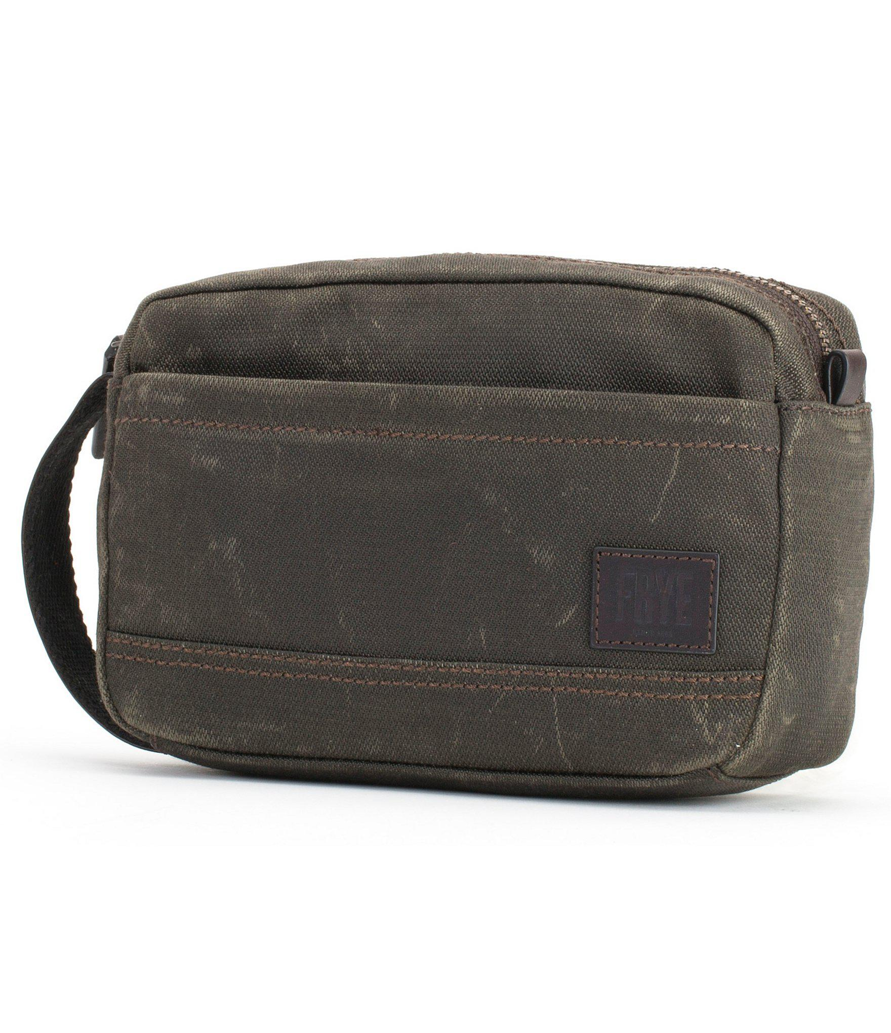 c01c32e7cb7d Lyst - Frye Carter Slim Dopp Kit in Green for Men