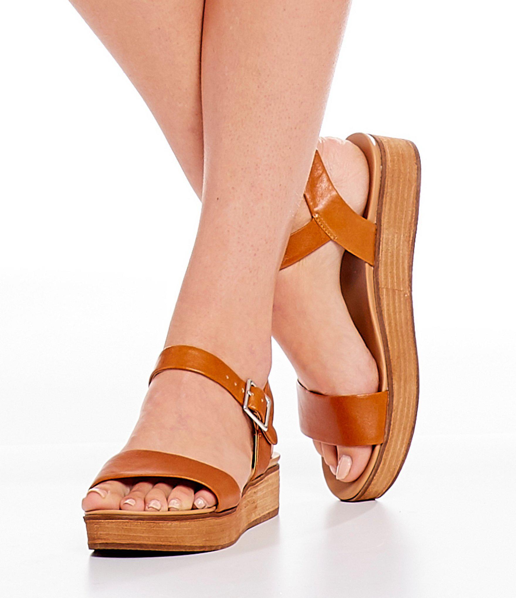 967b6515cf Steve Madden Aida Platform Sandals in Brown - Lyst