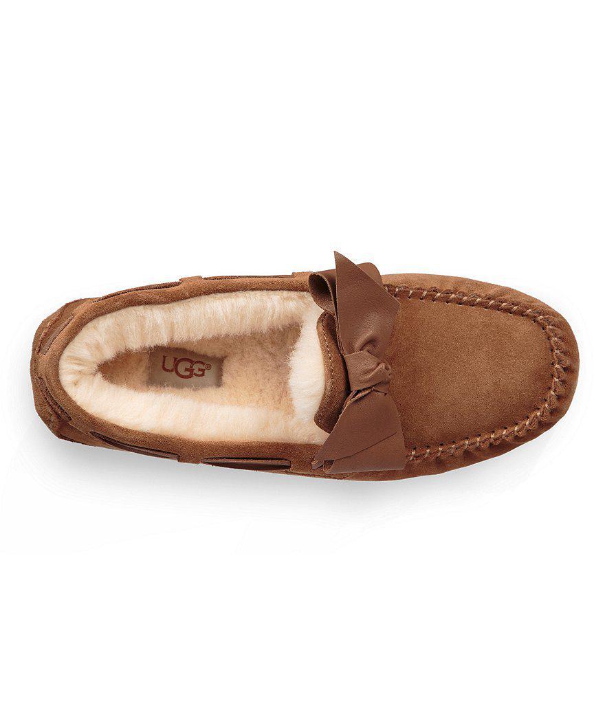 UGG® Dakota Suede Bow Slippers BvIEjusWp