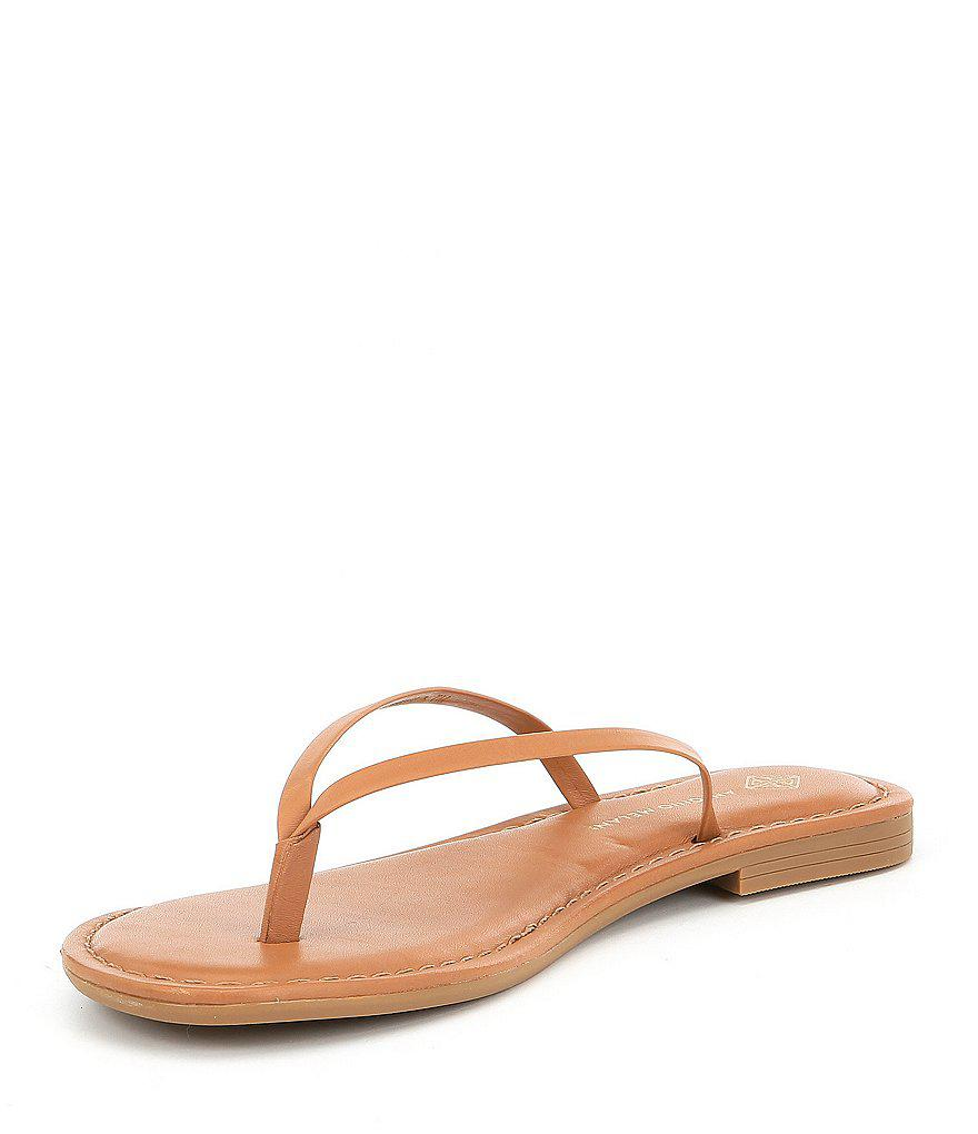 Antonio Melani Lagoona Nappa Leather Thong Sandals bQnmPkNx5M