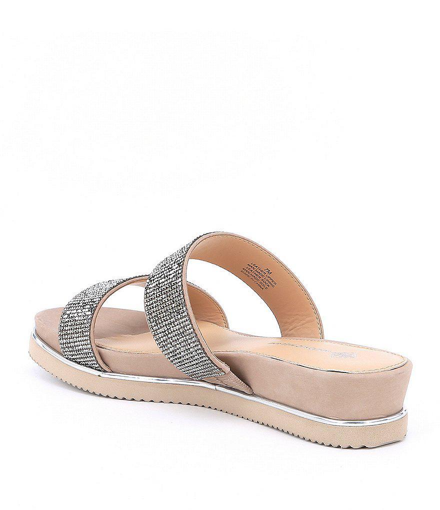 Antonio Melani Gloriela Nubuck Rhinestone Jeweled Sandals ONZNsk