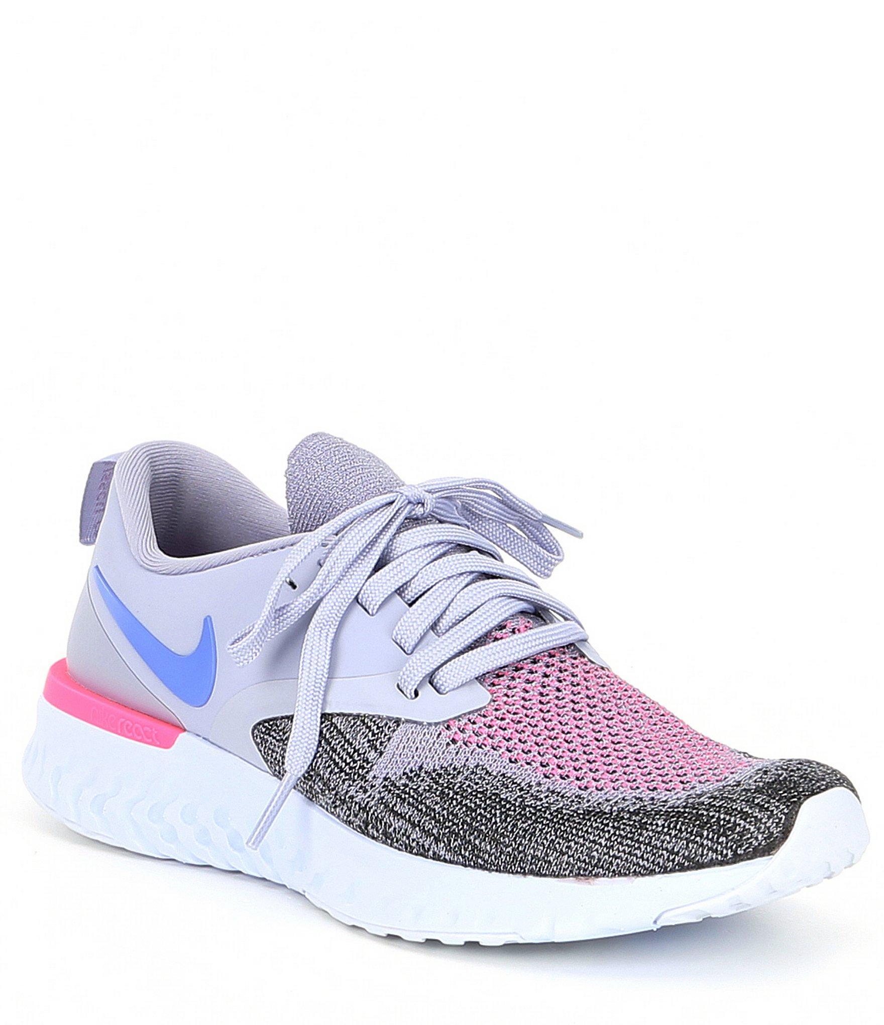 6e89e6310 Lyst - Nike Women s Odyssey React 2 Flyknit Running Shoe in Purple