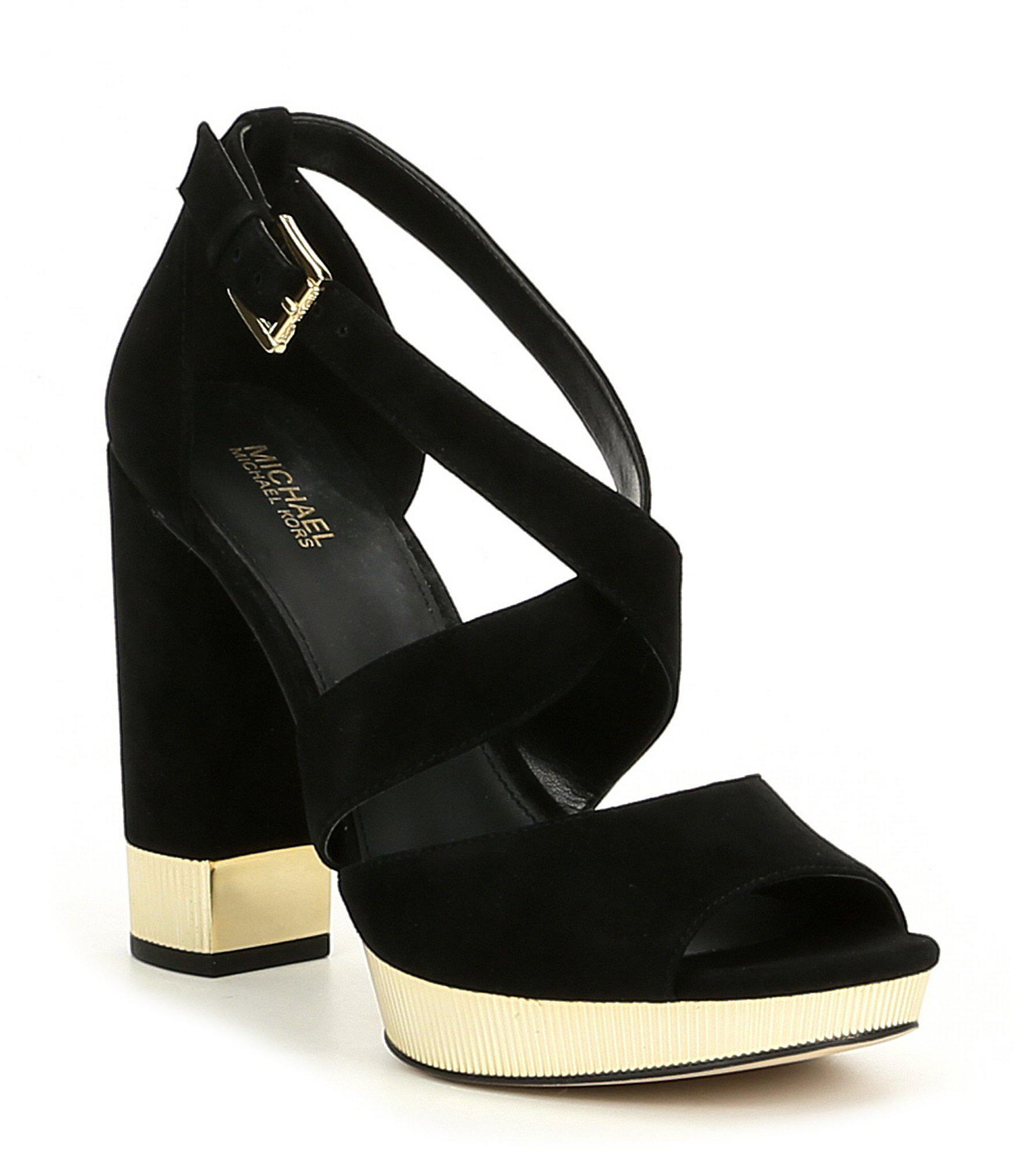 feedeb5a36d5 Michael Michael Kors Valerie Platform Sandal in Black - Lyst
