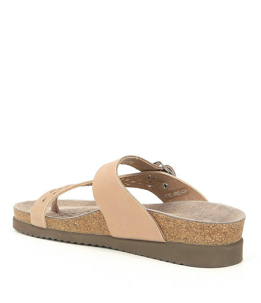 Helen Nubuck Perforated Thong Sandals A39ELfx