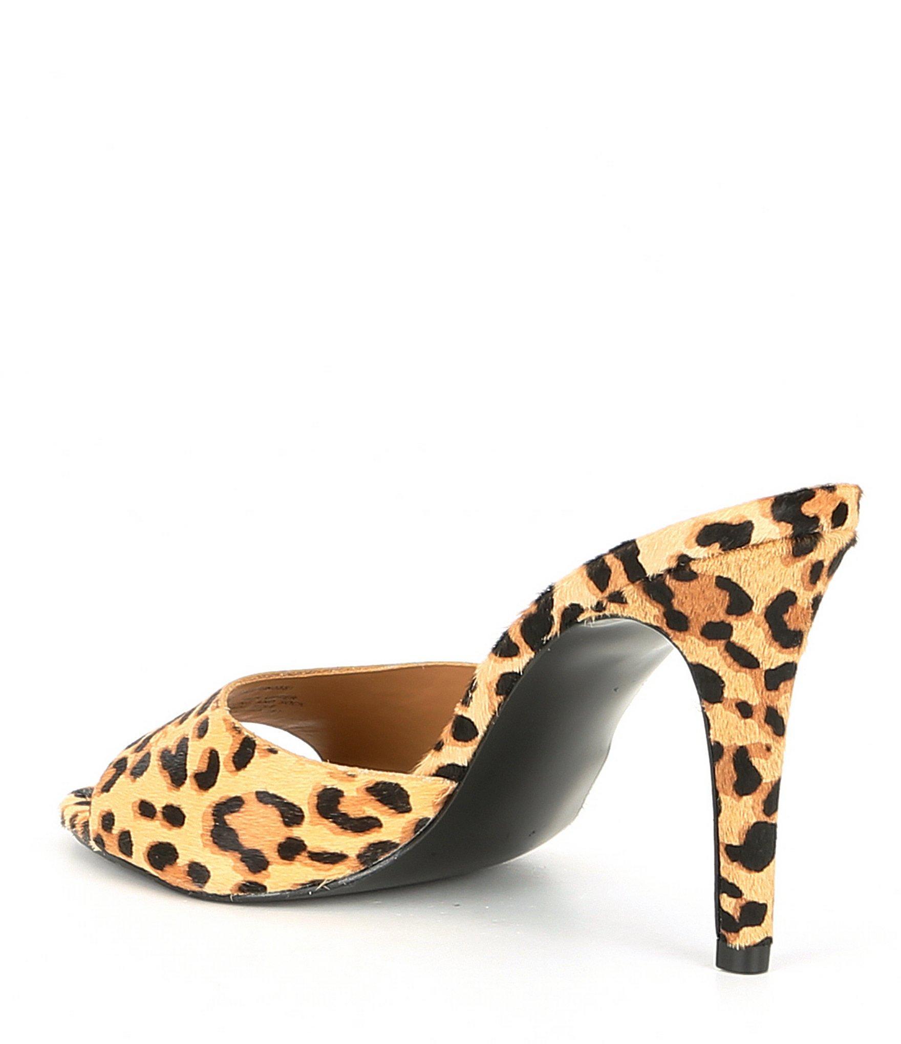 f64cc5202a66 Lyst - Steve Madden Erin Leopard Open-back Dress Sandals