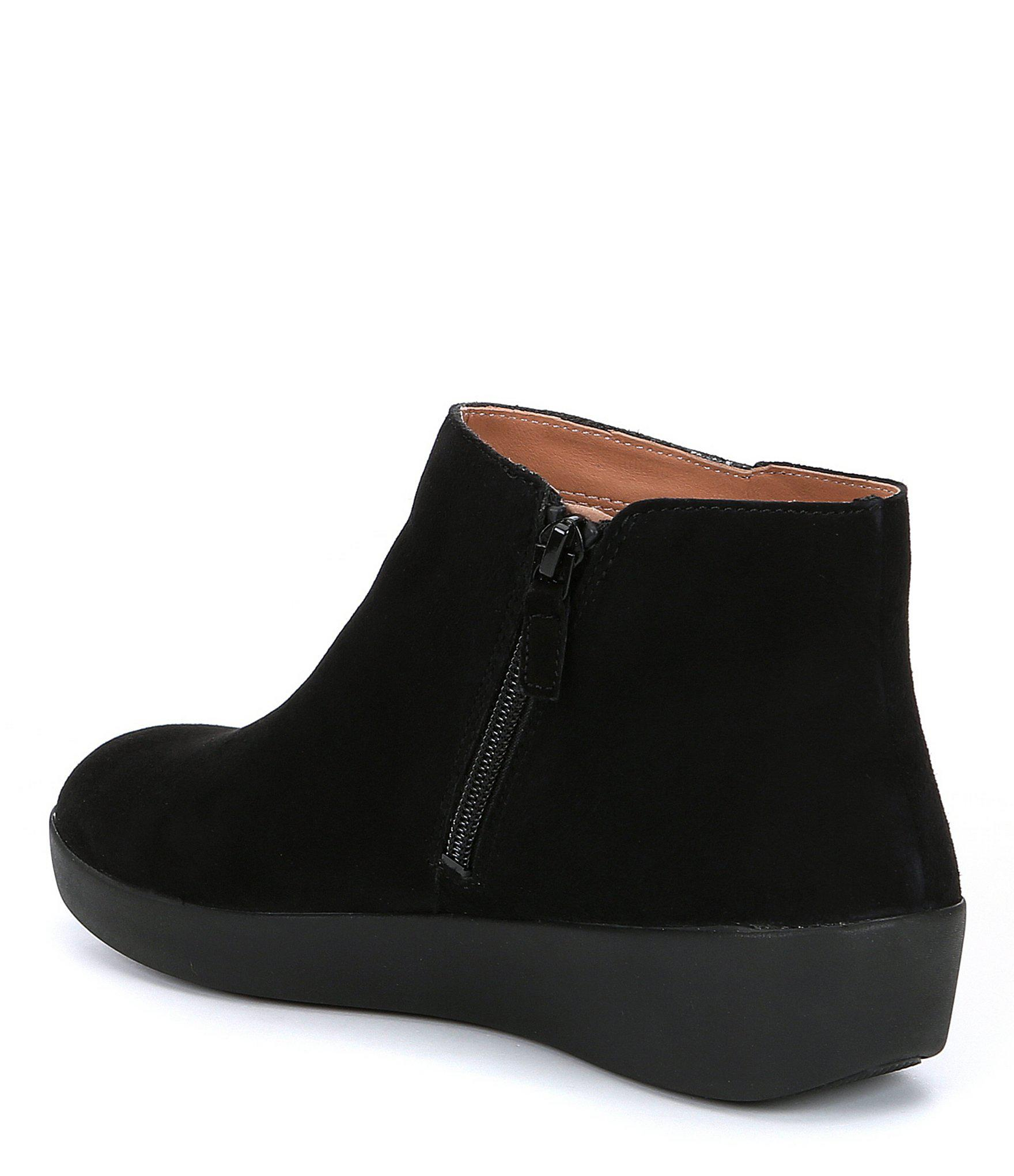 cc84db2f9 Lyst - Fitflop Sumi Suede Booties in Black