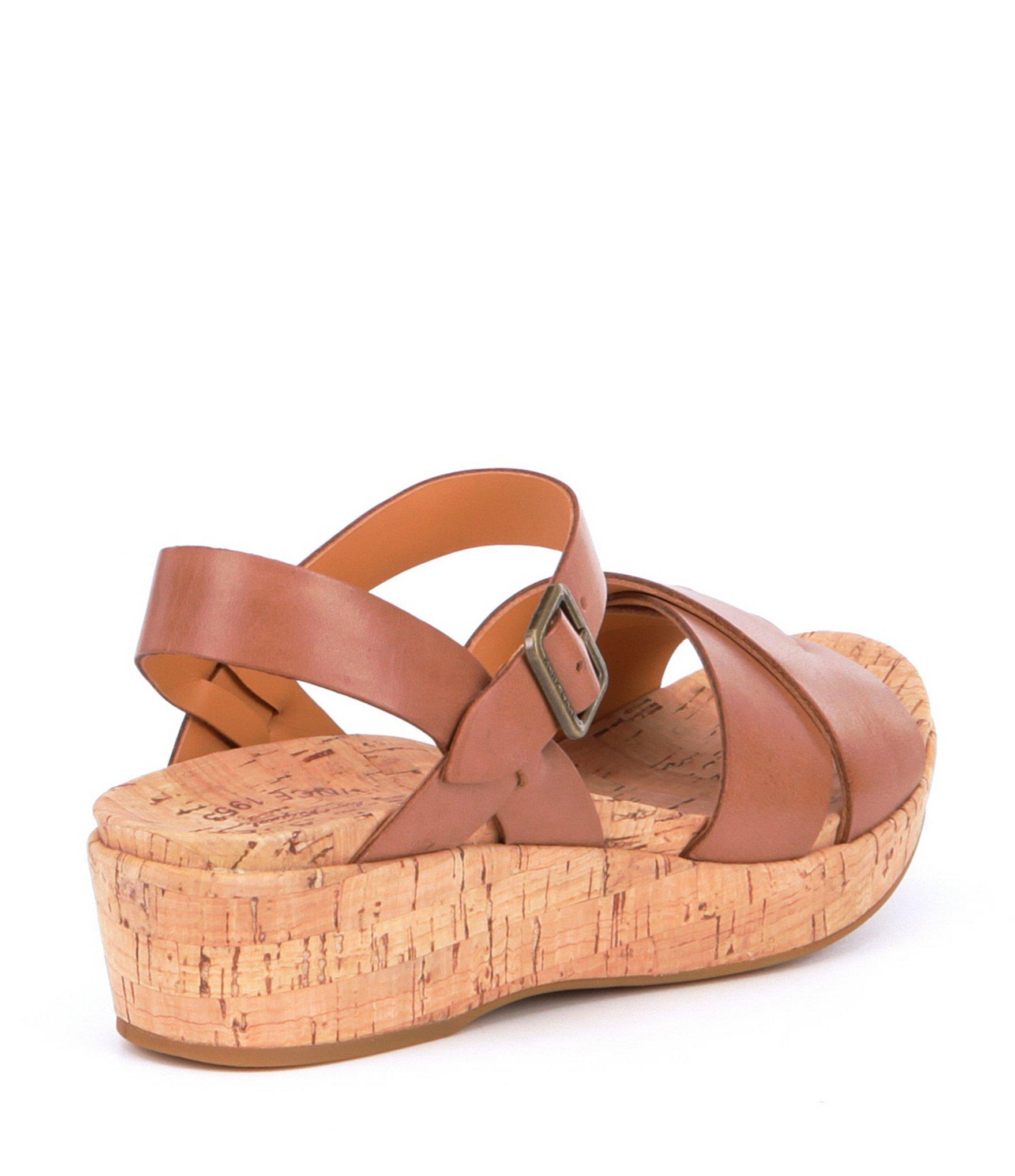 829b37436ab4 Kork-Ease - Brown Myrna Ankle Strap Banded Leather   Cork Sandals - Lyst.  View fullscreen