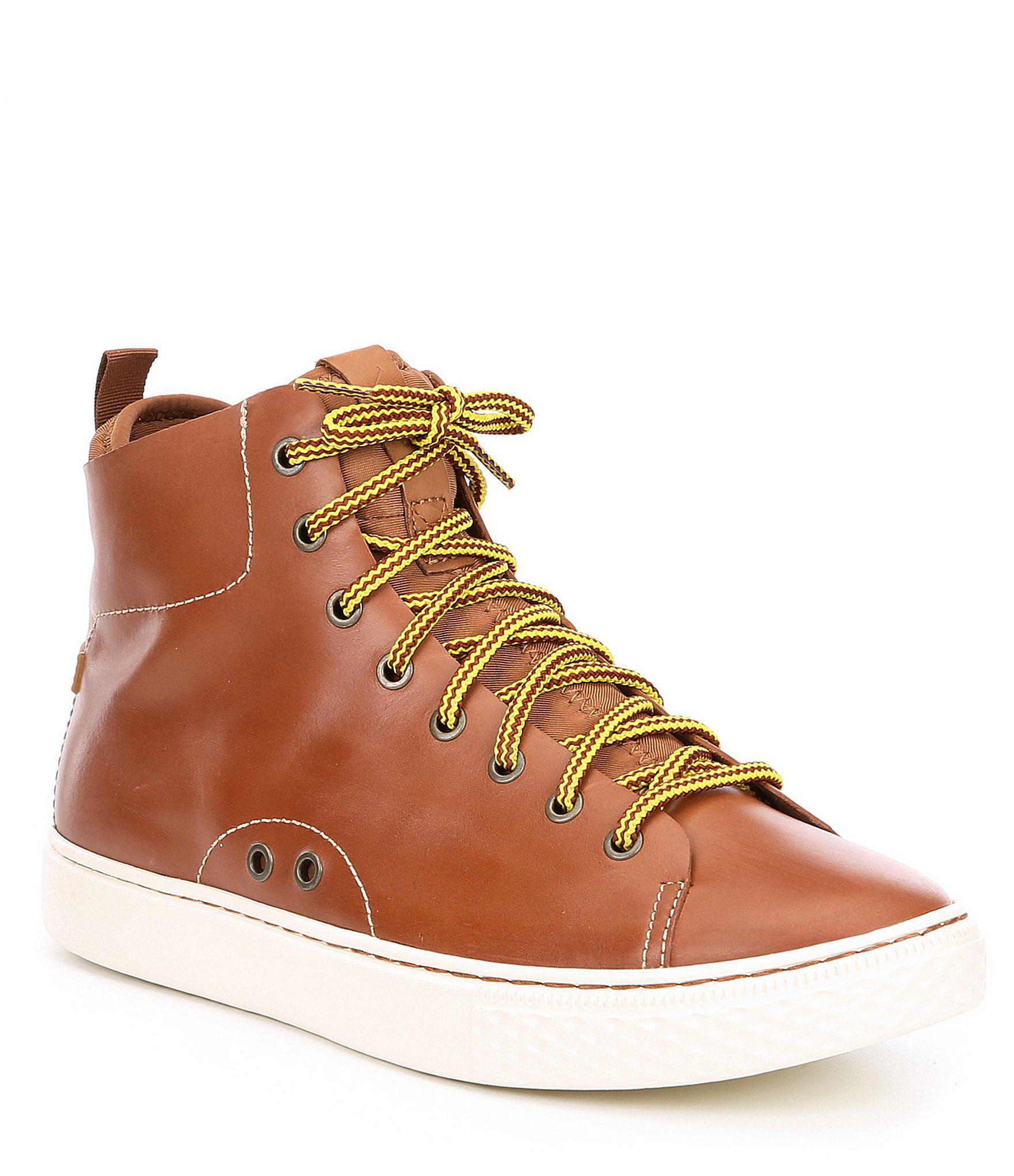 240ed9620fb9 Lyst - Polo Ralph Lauren Men s Leather Delaney Hi Top Sneaker in ...
