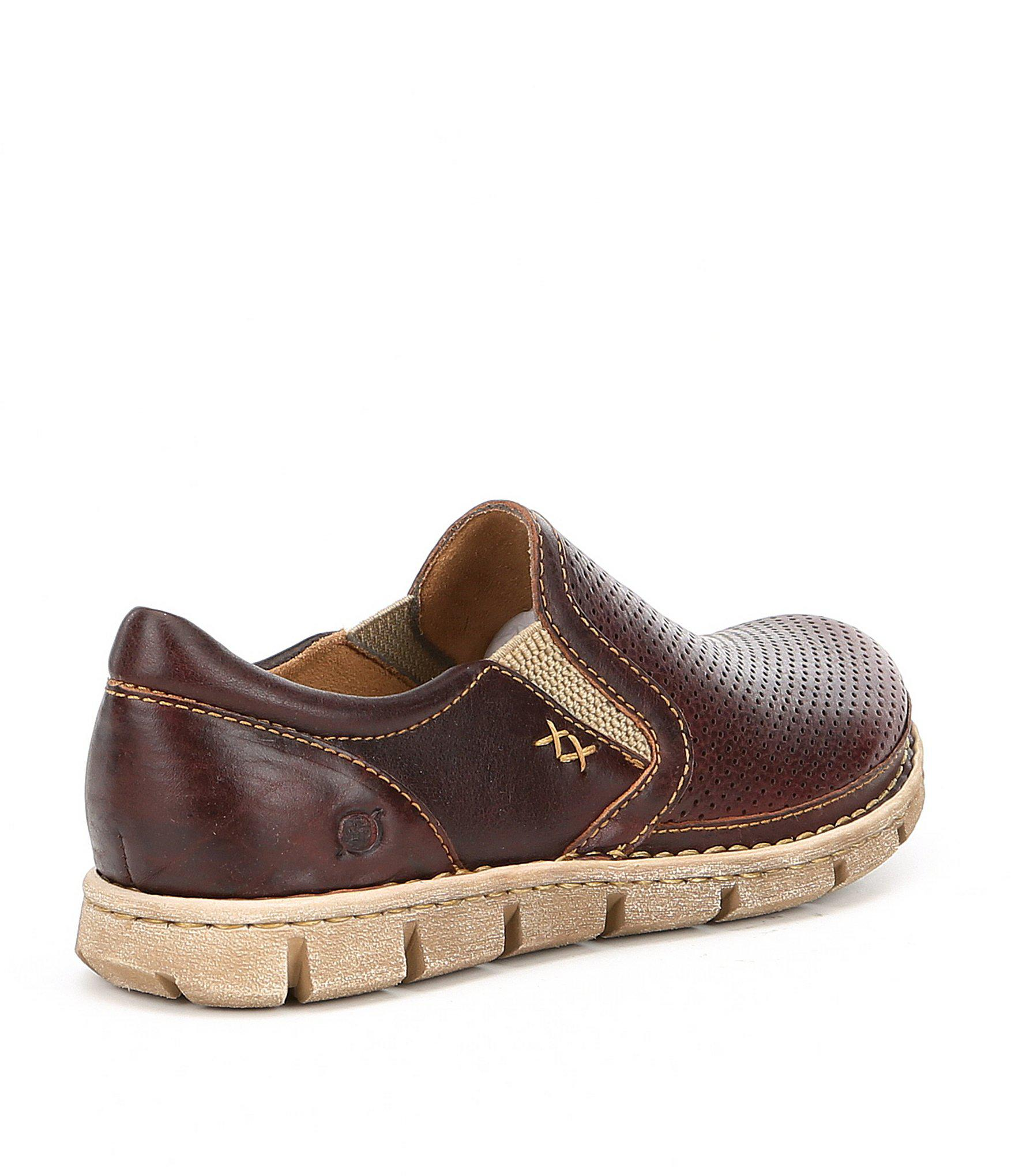 6cba8a996f306 Born - Brown Men s Sawyer Perforated Slip-ons for Men - Lyst. View  fullscreen