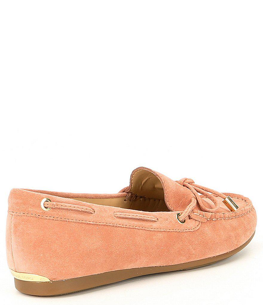 Sutton Moccasin Suede Bow Detail Loafers ZWlVY5xEC