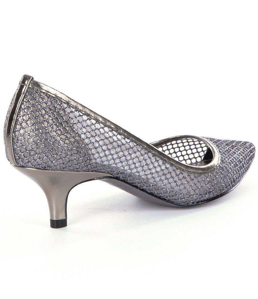 Lois Glitter Mesh Pointed-Toe Pumps dGebp8o
