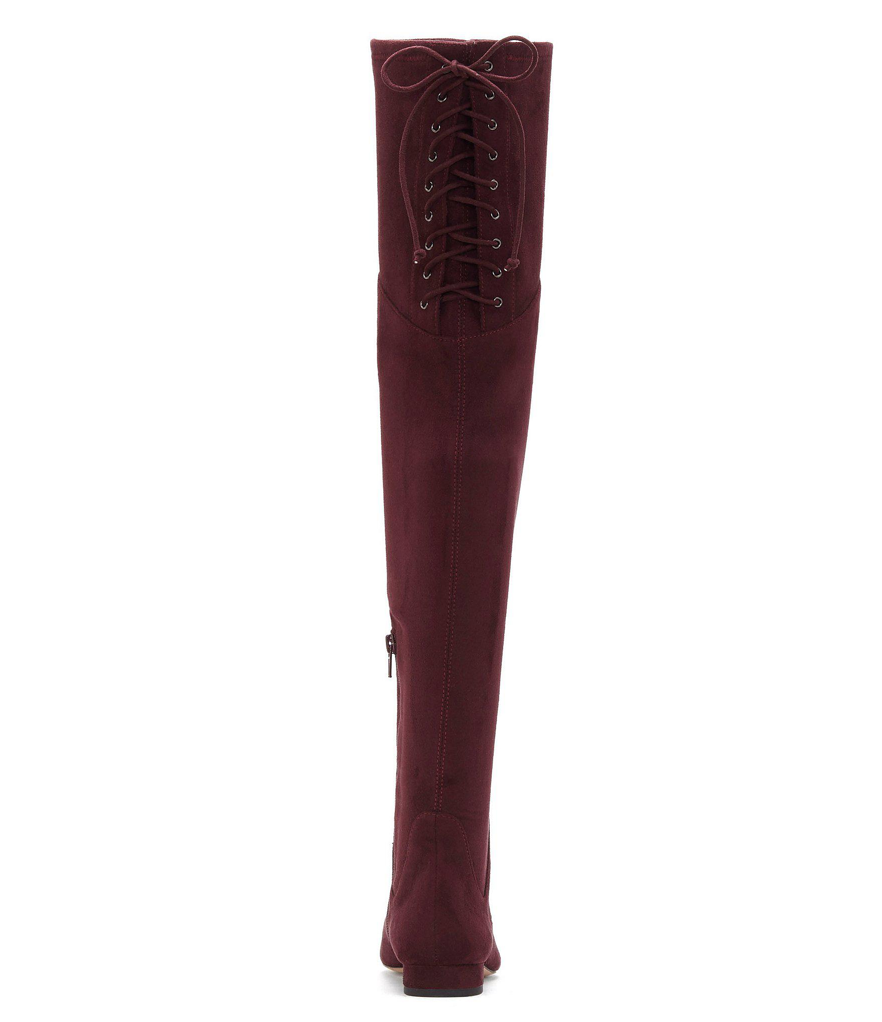 9c7a5dc922e Lyst - Enzo Angiolini Meana Over-the-knee Block Heel Boots in Red