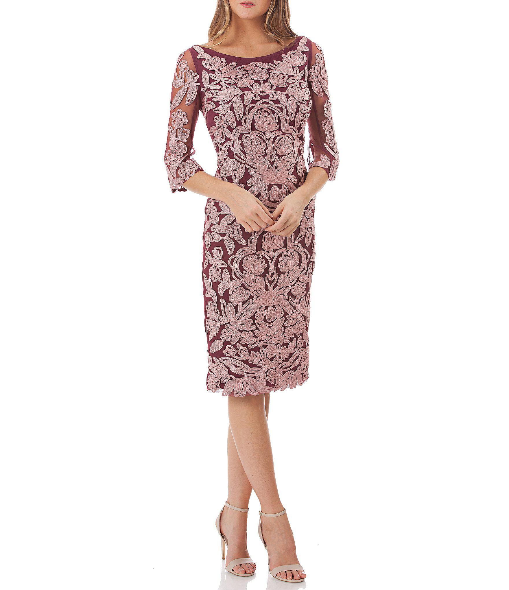 bbe8a04a8dba Lyst - JS Collections Embroidered Soutache Cocktail Dress