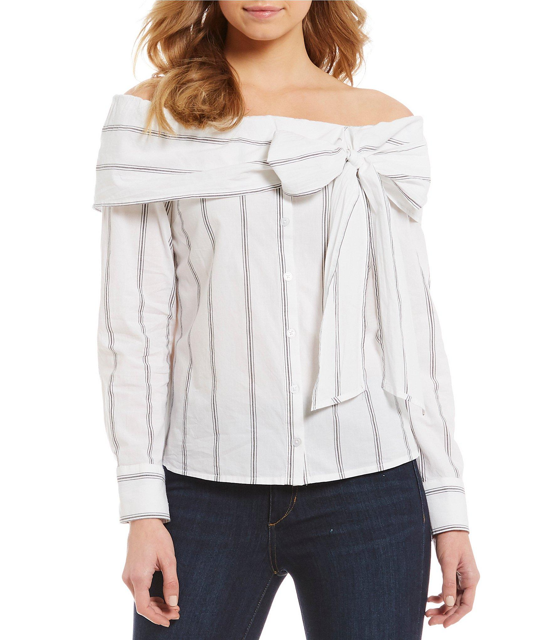 30cf258bfc8bff Lyst - Ella Moss Rosemary Woven Off-the-shoulder Top in White