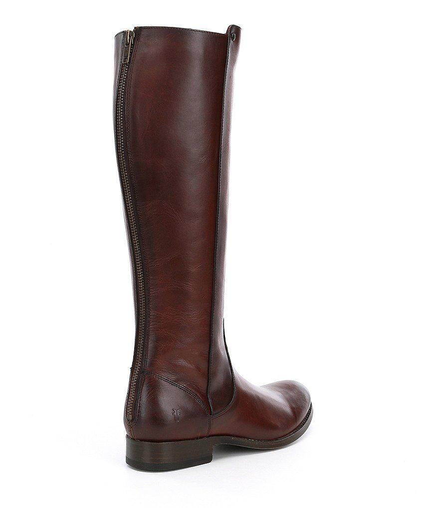 Melissa 2 Stud Back Zip Block Heel Tall Riding Boots 2WUWUjWip