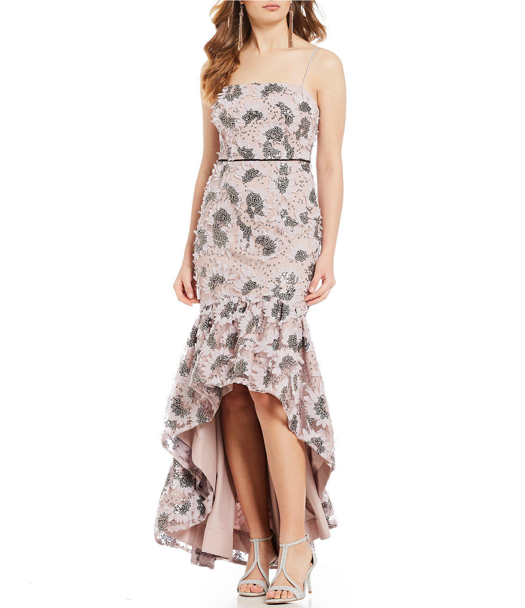 b1307643e Gianni Bini Jessie Floral Print Hi-low Ruffle Hem Dress - Lyst
