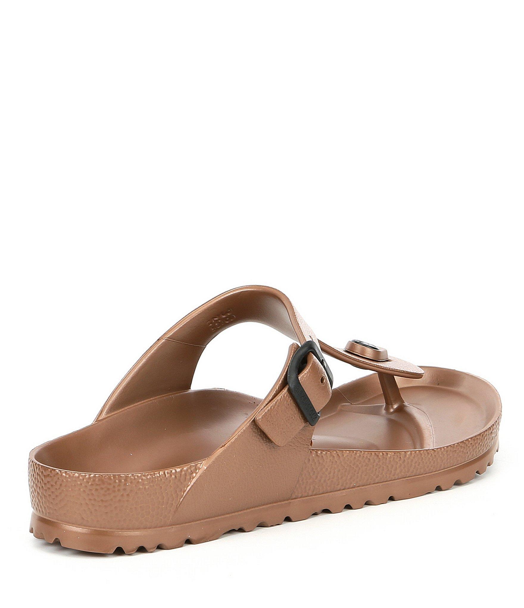 78c90261a67c Birkenstock - Brown Women s Gizeh Eva Adjustable Strap Thong Sandals -  Lyst. View fullscreen
