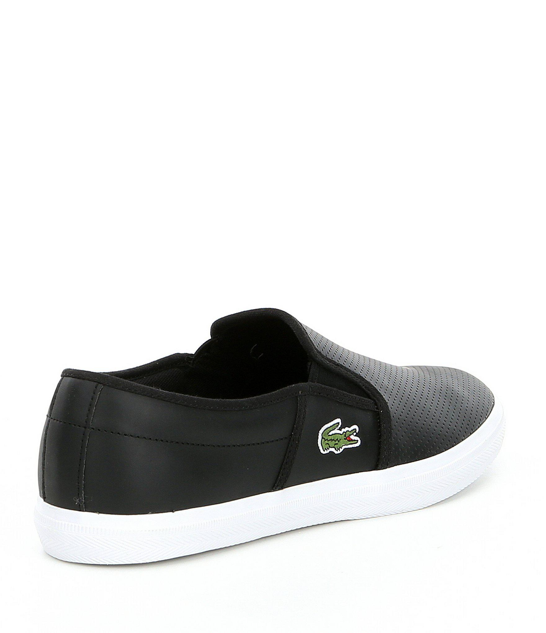 998fa8324ff7d Lacoste - Black Men s Gazon Slip On Sneakers for Men - Lyst. View fullscreen