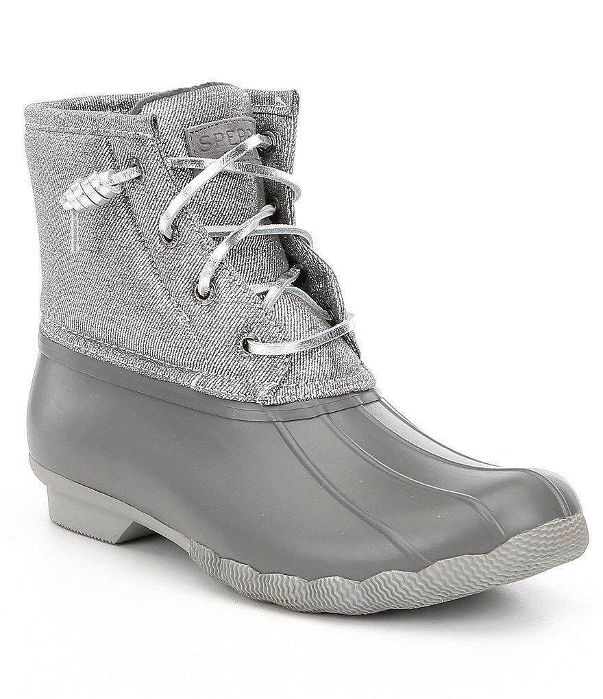 1ccf157f08b0 Sperry Top-Sider Women's Saltwater Metallic Sparkle Rain Boots in ...