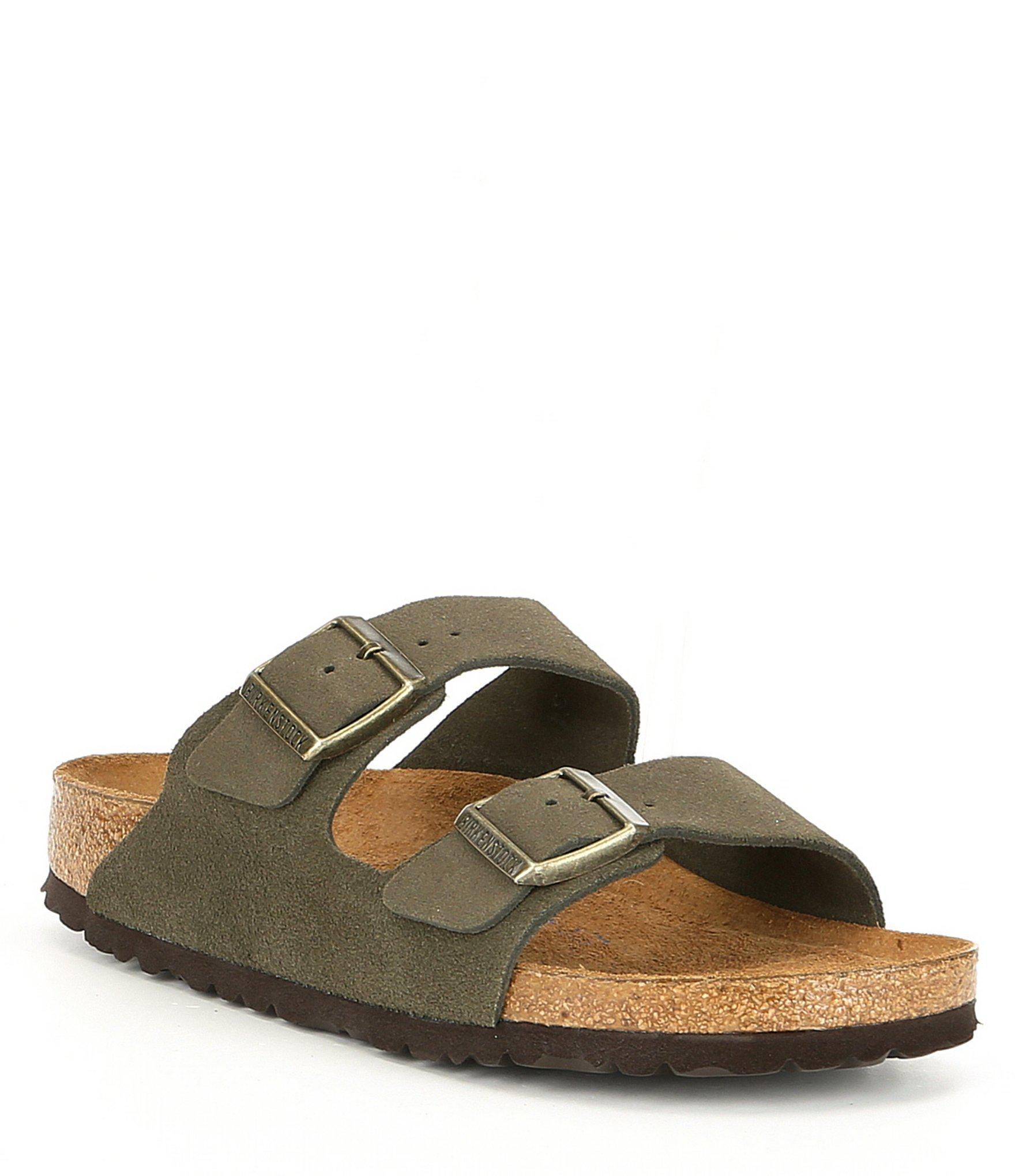 e4ff3eea995a Lyst - Birkenstock Arizona Soft Footbed Suede Slide Sandals