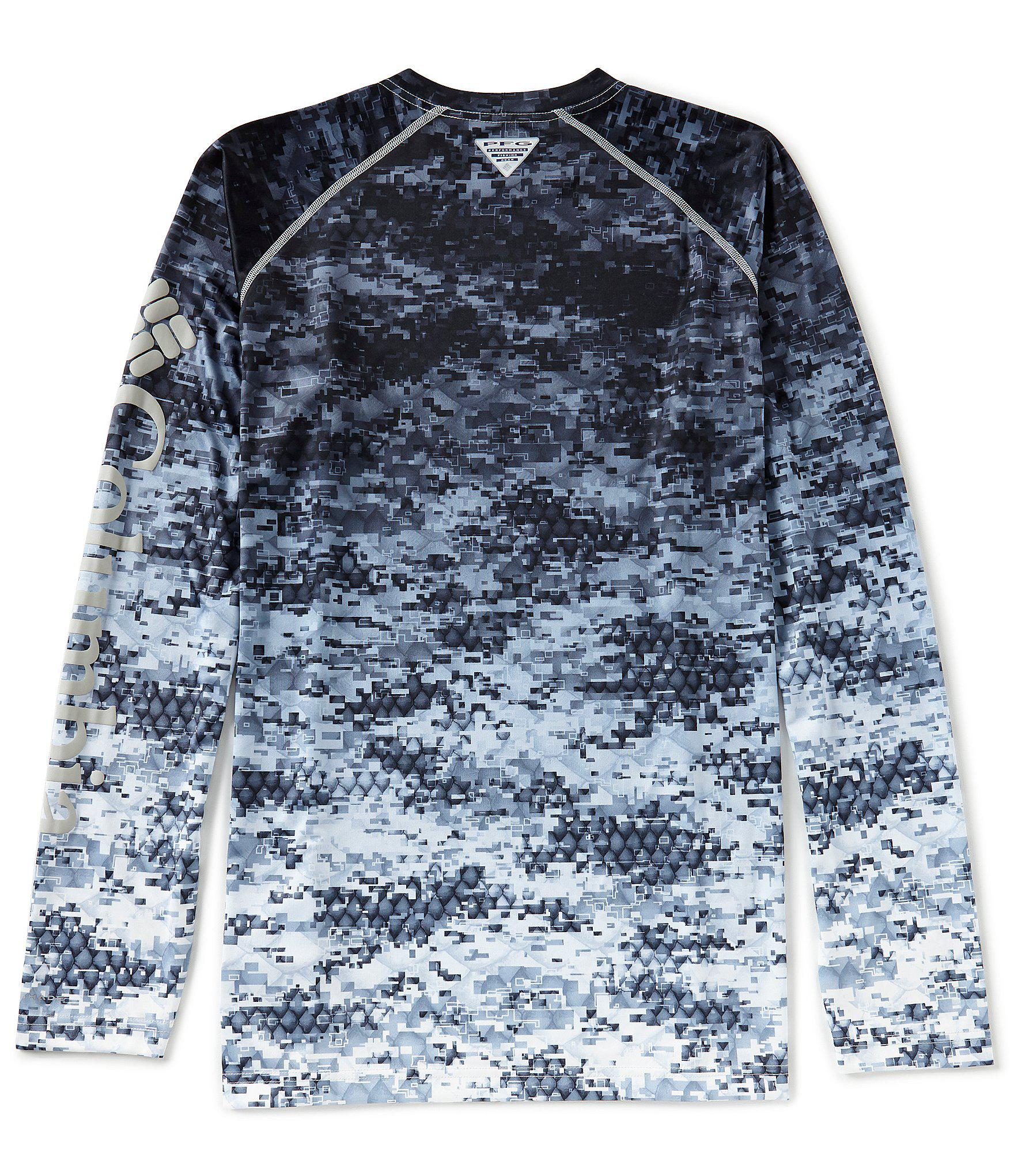 86c49b19540 Columbia Pfg Terminal Tackle Camo Fade Long-sleeve Tee in Blue for ...